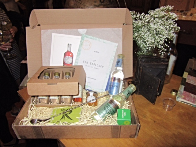The Gin Explorer Box at The Gin Festival, Hull