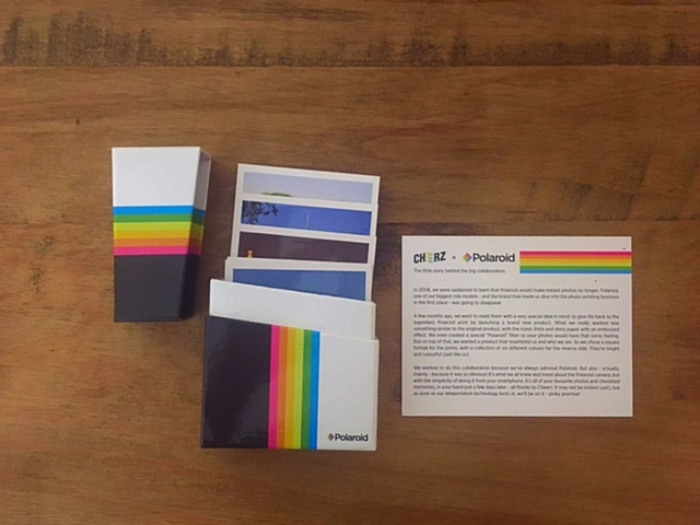 Polaroids in Box from Cheerz