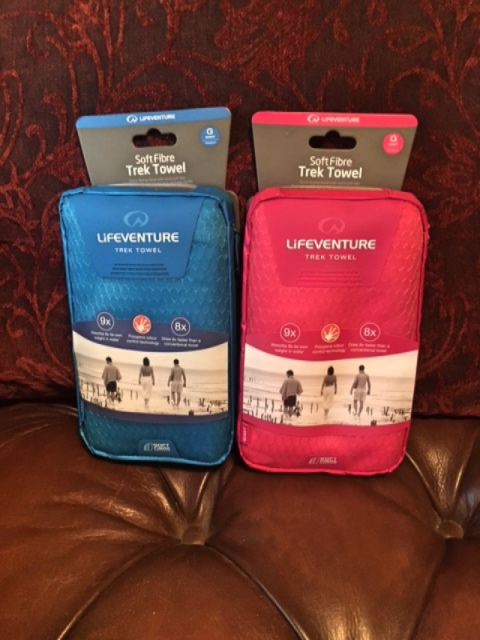 Lifeventure Travel Towels come in a handy case