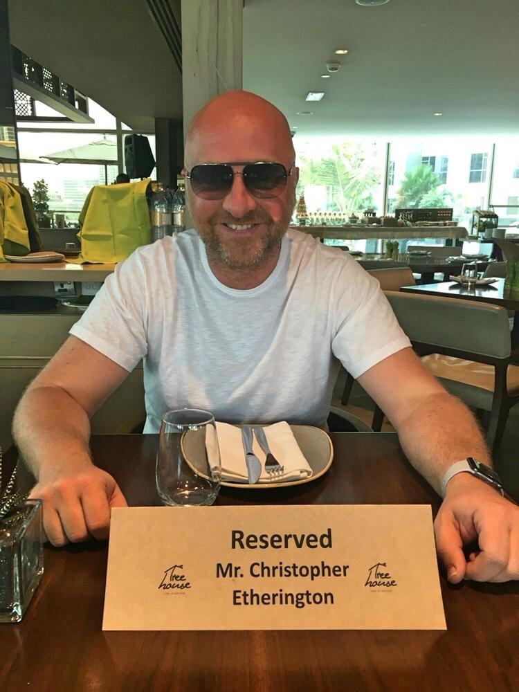 Mr ESLT at brunch in Dubai