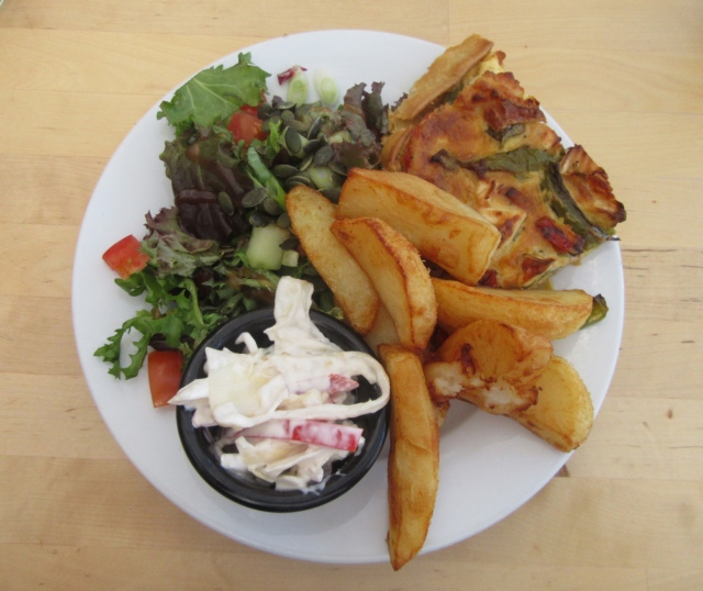 Quiche & Chips at The Grainary