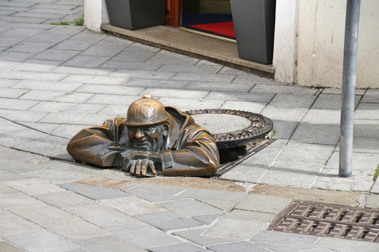 Another one of the many sculptures in Bratislava