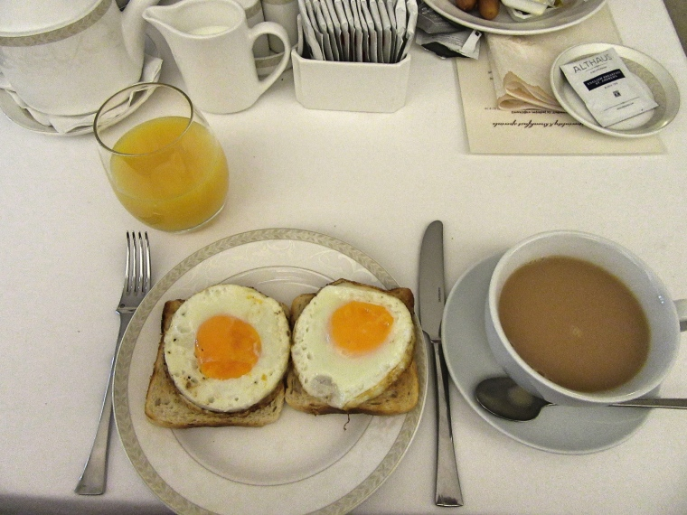 Breakfast from the al la carte menu at Tulip House Boutique Hotel, Bratislava