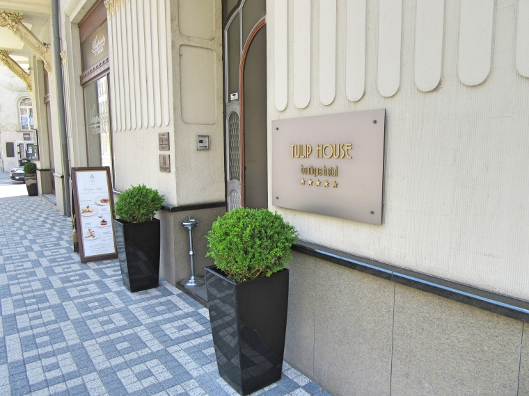Entrance to Tulip House Boutique Hotel, Bratislava