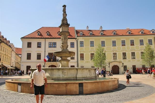 Fountain in the Main Square, Bratislava