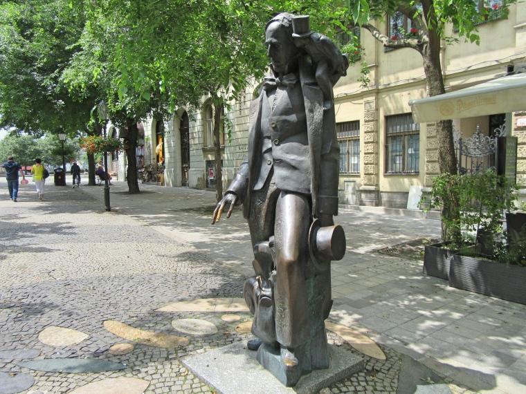 Hans Christian Andersen Sculpture in Bratislava