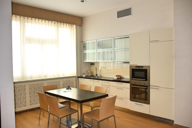 Kitchen in our Deluxe Suite at Tulip House Boutique Hotel, Bratislava