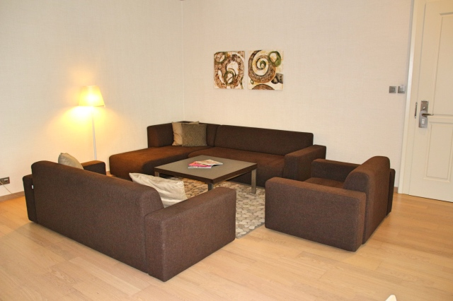 Seating area in our Deluxe Suite at Tulip House Boutique Hotel, Bratislava