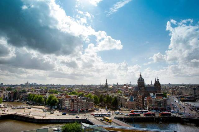 Amsterdam from the Skylounge