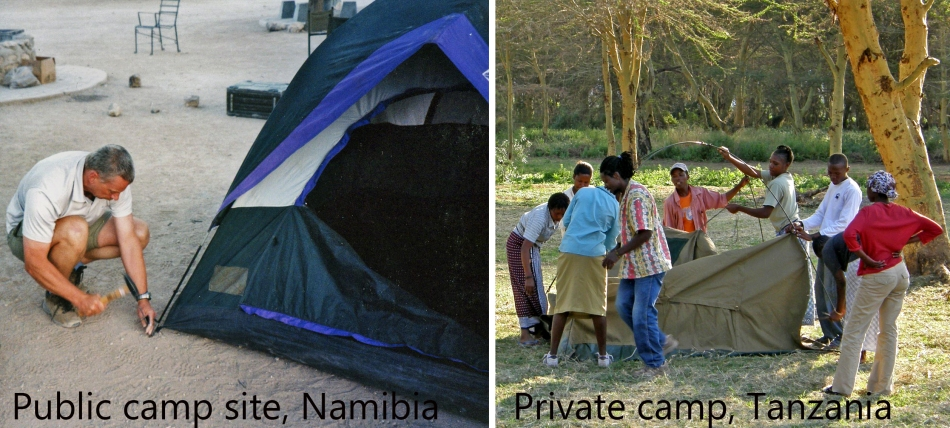 Camp Sites in Africa