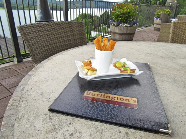 Canapes on the terrace at Beech Hill Hotel & Spa
