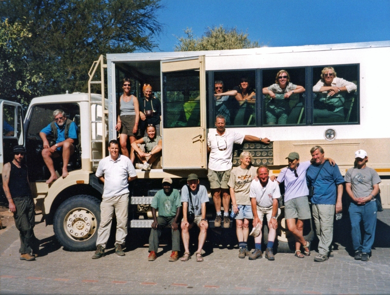 Having a lot of fun on an overland truck through Africa with a great bunch of people