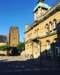 Town Hall & Church, Watling Street, Towcester, England