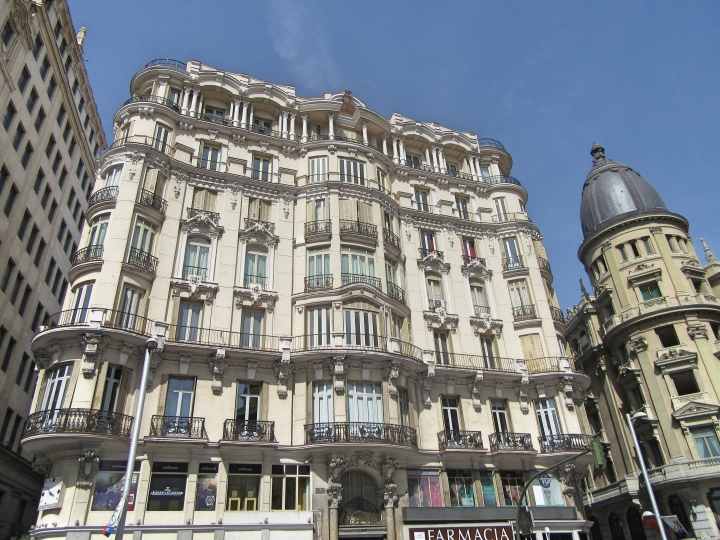 Beautiful Architecture on Grand Vie, Madrid