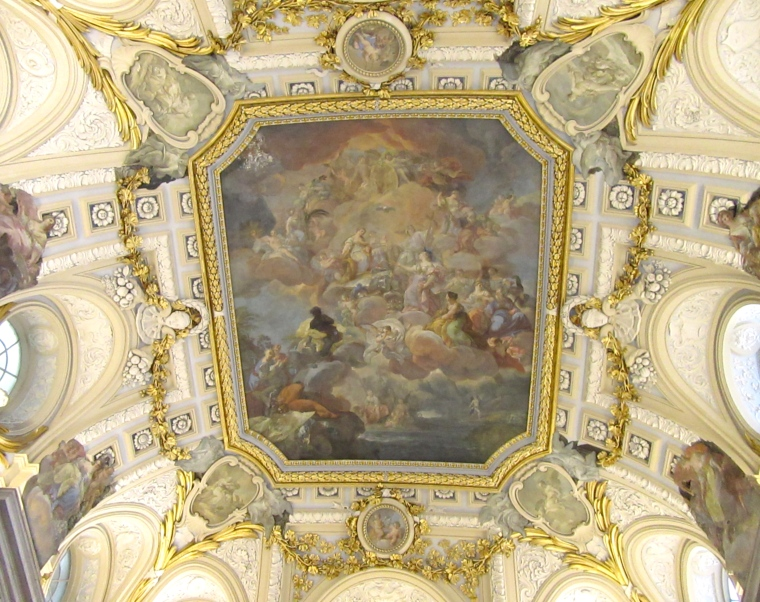Beautiful Ceiling in the Royal Palace, Madrid