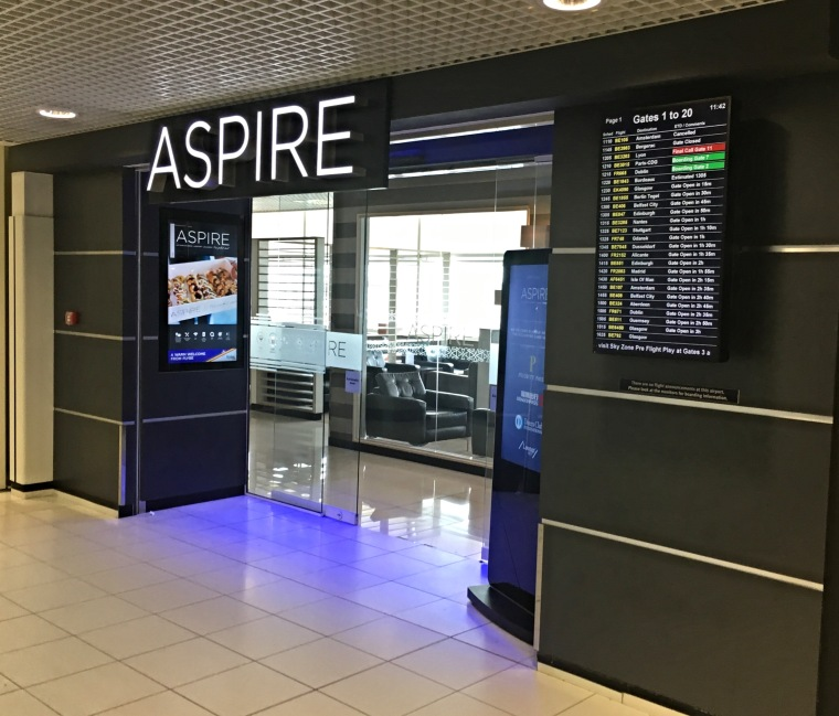 Entrance to The Aspire Lounge at Birmingham Airport