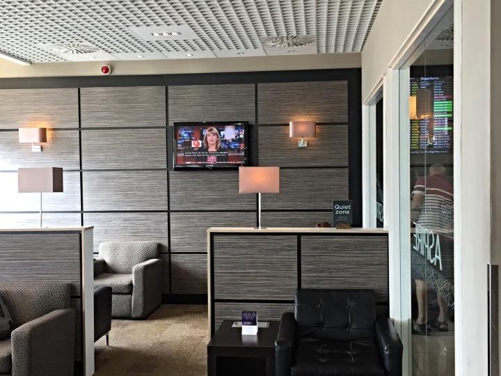 Quiet area in the Aspire Lounge at Birmingham Airport