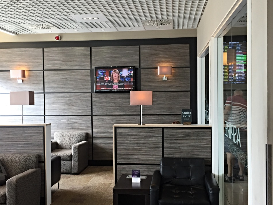 Quiet area in the Aspire Lounge at Birmingham Airport