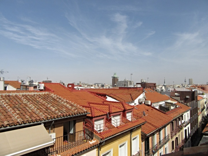 Looking out over Madrid's rooftops. Sidorme Hotel Fuencarral 52