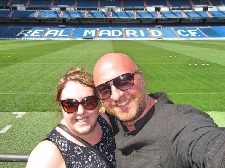 Mr ESLT and I at the Bernabeu Stadium, Madrid