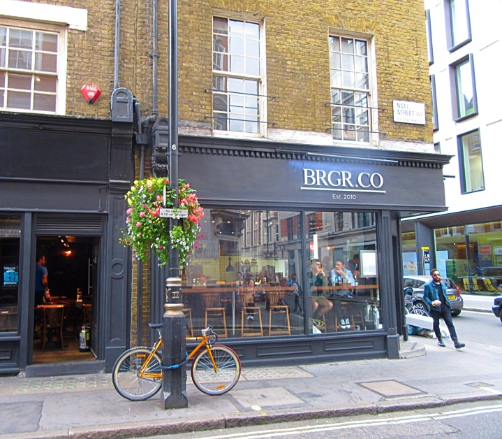 BRGR.CO in Soho, London. Alternative afternoon tea