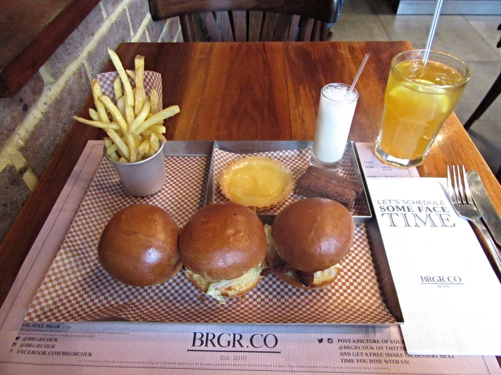 Afternoon Tea at BRGR.CO in Soho, London. Alternative afternoon tea.