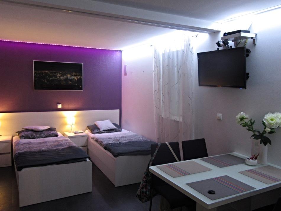 Beds in Diokles Studio Apartmen in Split, Croatia