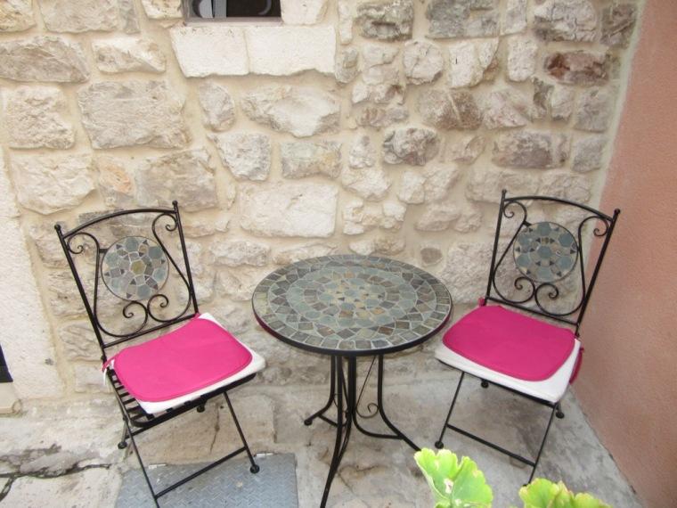 Terrace at Diokles Studio Apartmen in Split, Croatia