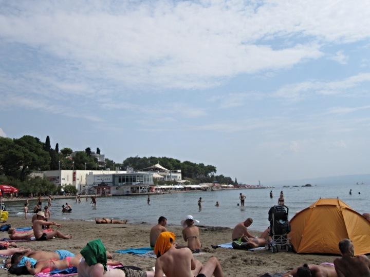 Bačvice Beach in Split, Croatia