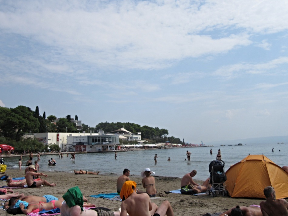 Bačvice Beach in Split, Croatia