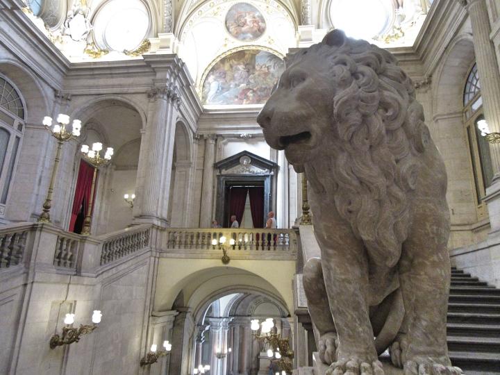 Inside the Royal Palace, Madrid