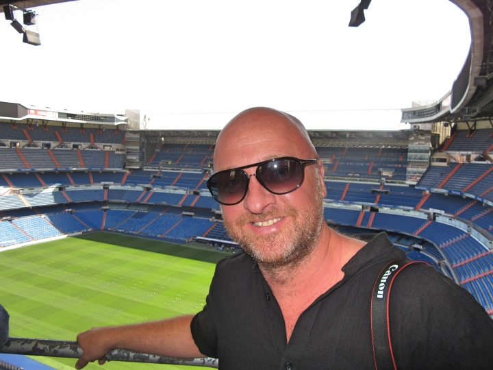 Mr ESLT at the top of the Bernabeu Stadium, Madrid