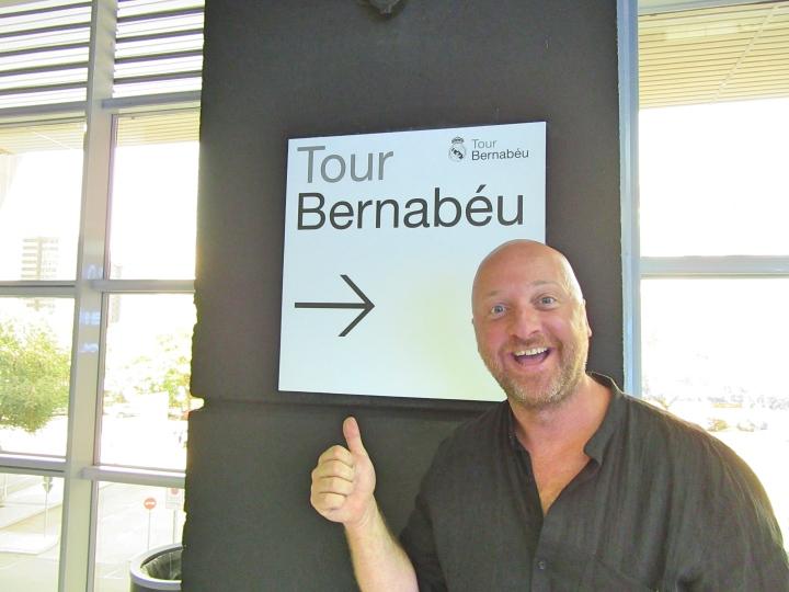 Mr ESLT was excited to do the Bernabeu Stadium Tour, Madrid