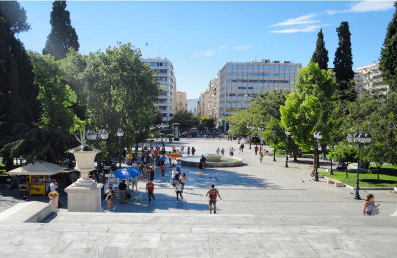 Syntagma Square: View from Vassilis Sophias Street