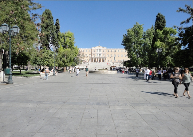 Syntagma Square: View from Stadiou Street