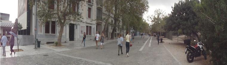 Panoramic view of Dionysiou Areopagitou Street