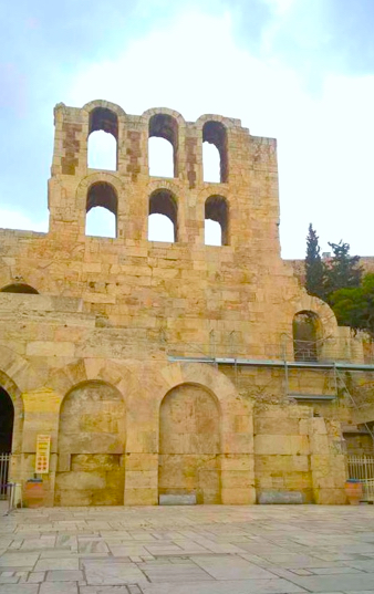 Back side of Odeon Herodes Atticus