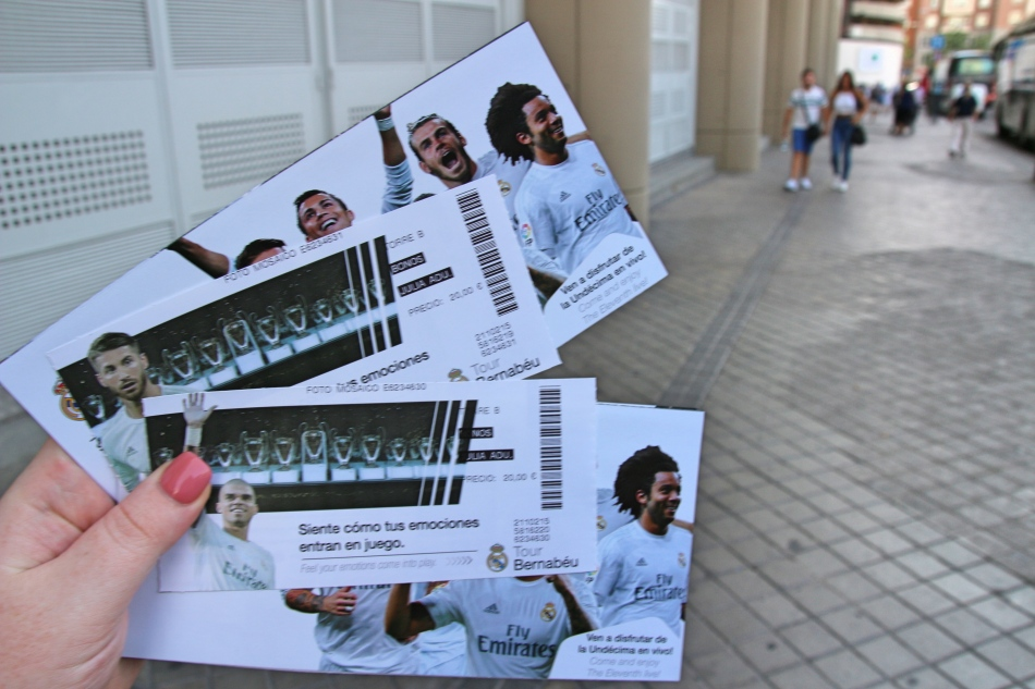 Tickets for our Bernabeu Tour, Madrid