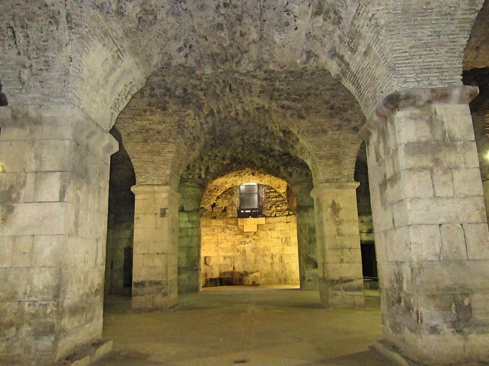 Basement of Diocletian's Palace, Split, Croatia