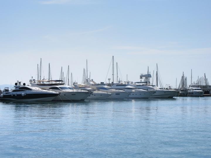 Boats at Split Marina in Croatia