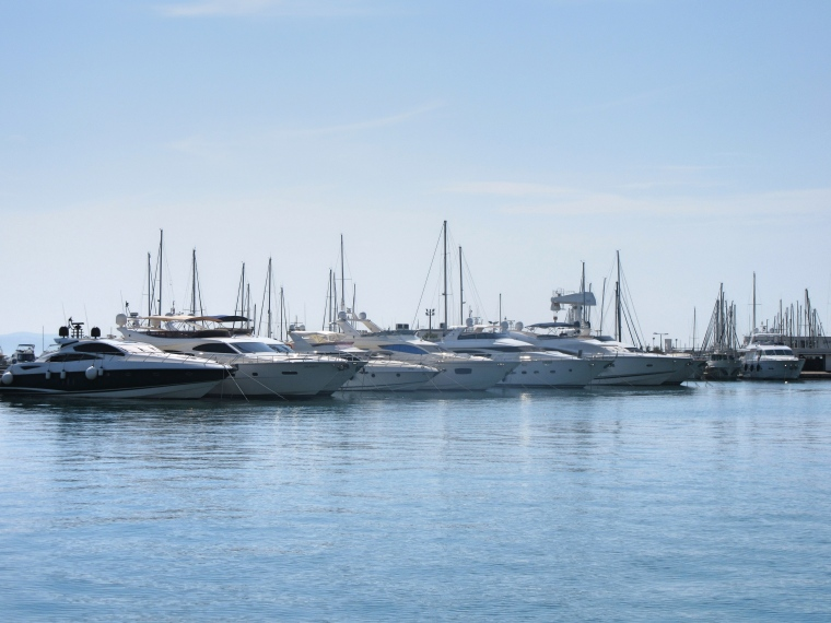Boats at Split Marina in Croatia