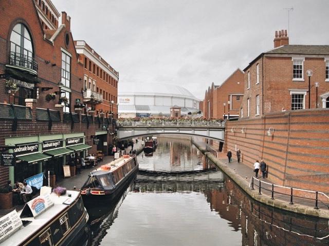 Canal in Birmingham, England