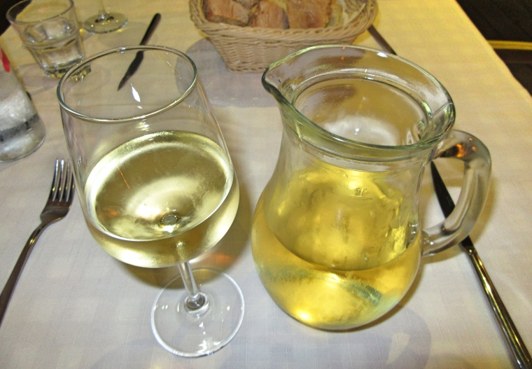 Carafe of wine at Tinel Trattoria, Split