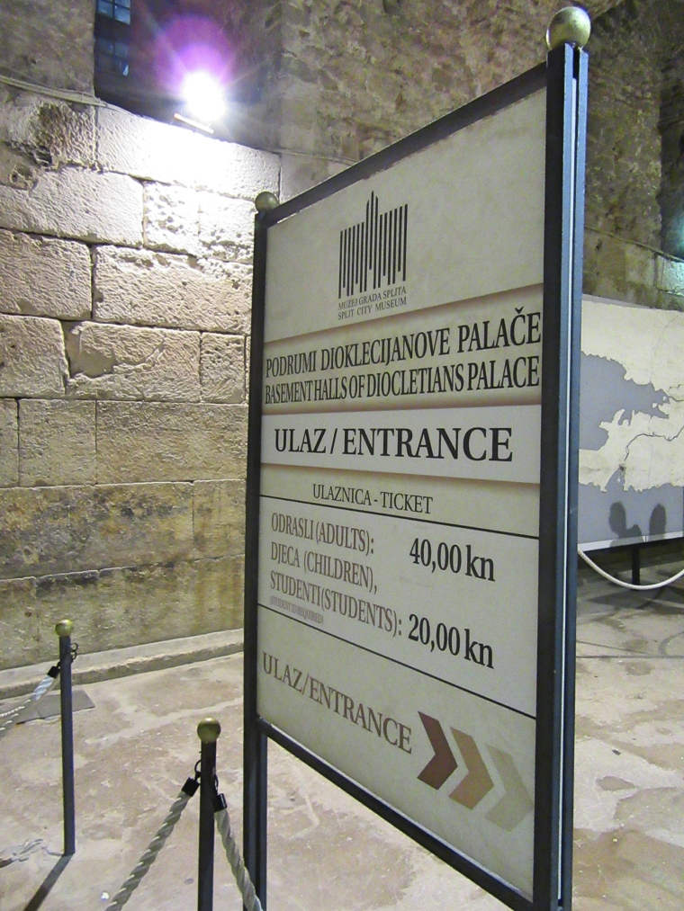 Entrance to Diocletian's Palace basement, Split,Croatia