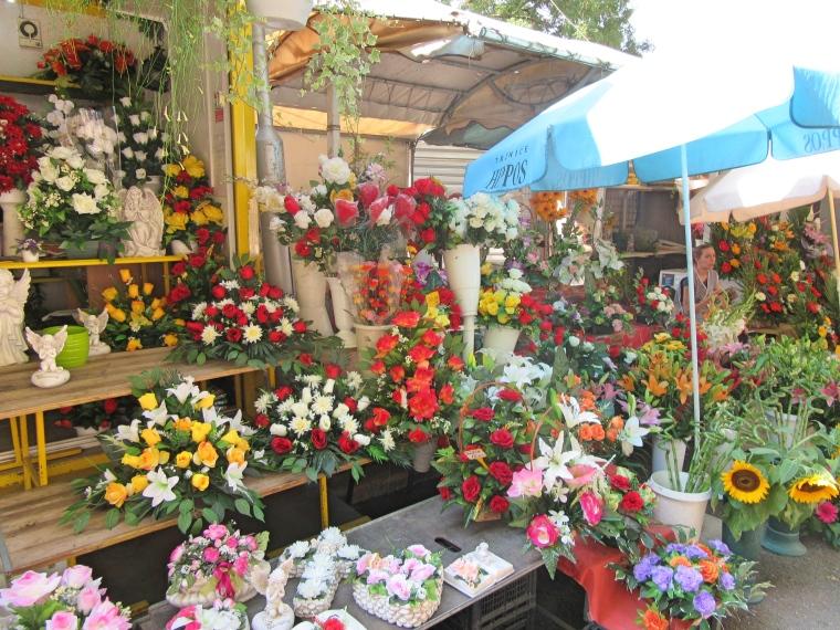 Flowers for sale at the Farmer's Market in Split, Croatia