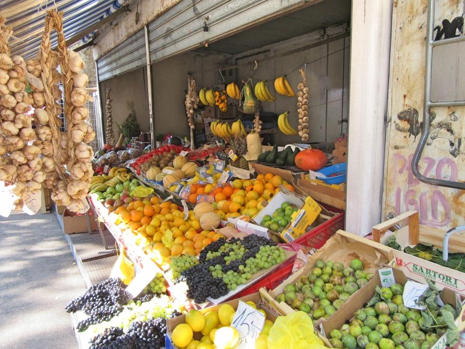 Fruit & vegetables for sale at the Farmer's Market, Split, Croatia
