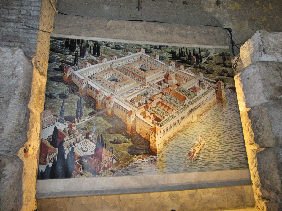 How the Palace looked back in Diocletian's time, Split, Croatia