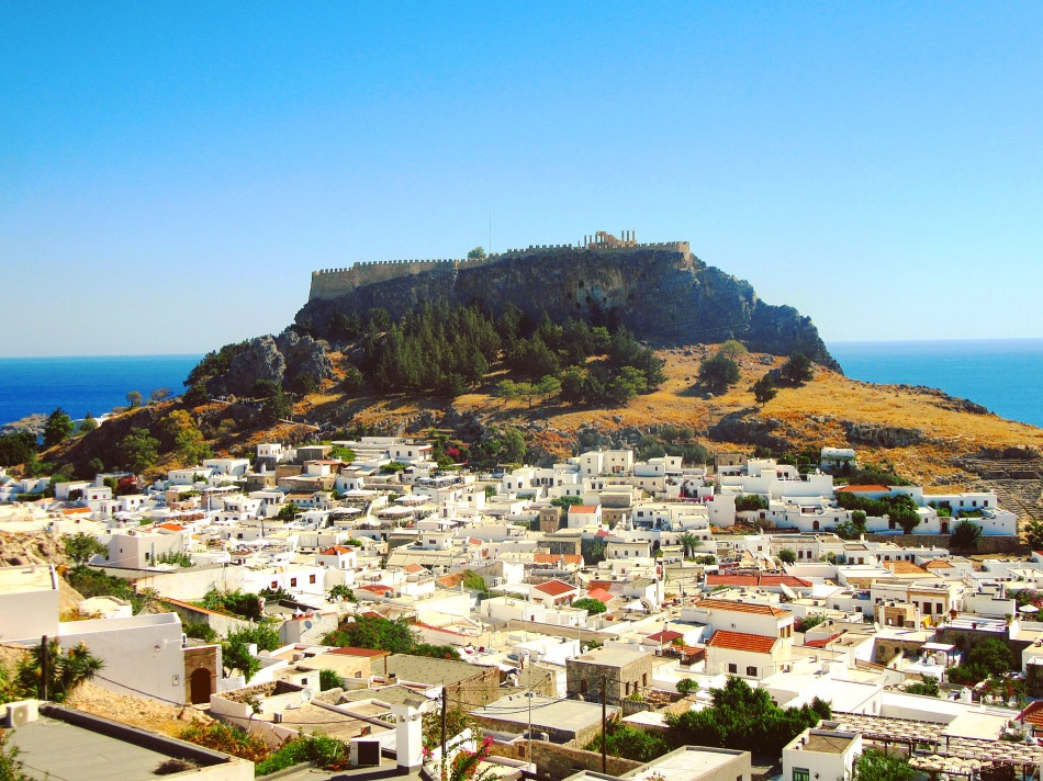 Lindos, Rhodes. Winter sun