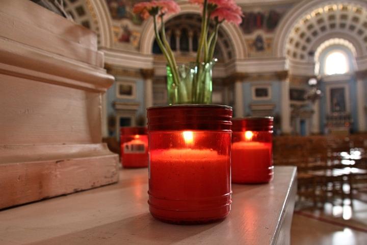 Candles at Mosta Rotunda, Malta
