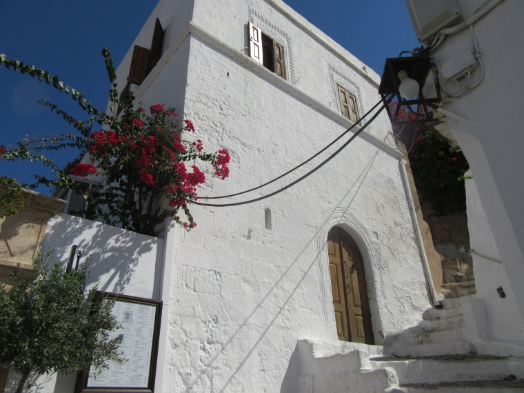 Beautiful white buildings in Lindos, Rhodes